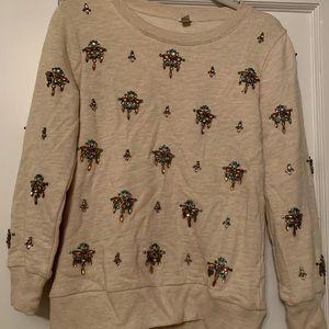 Jeweled Jcrew sweatshirt